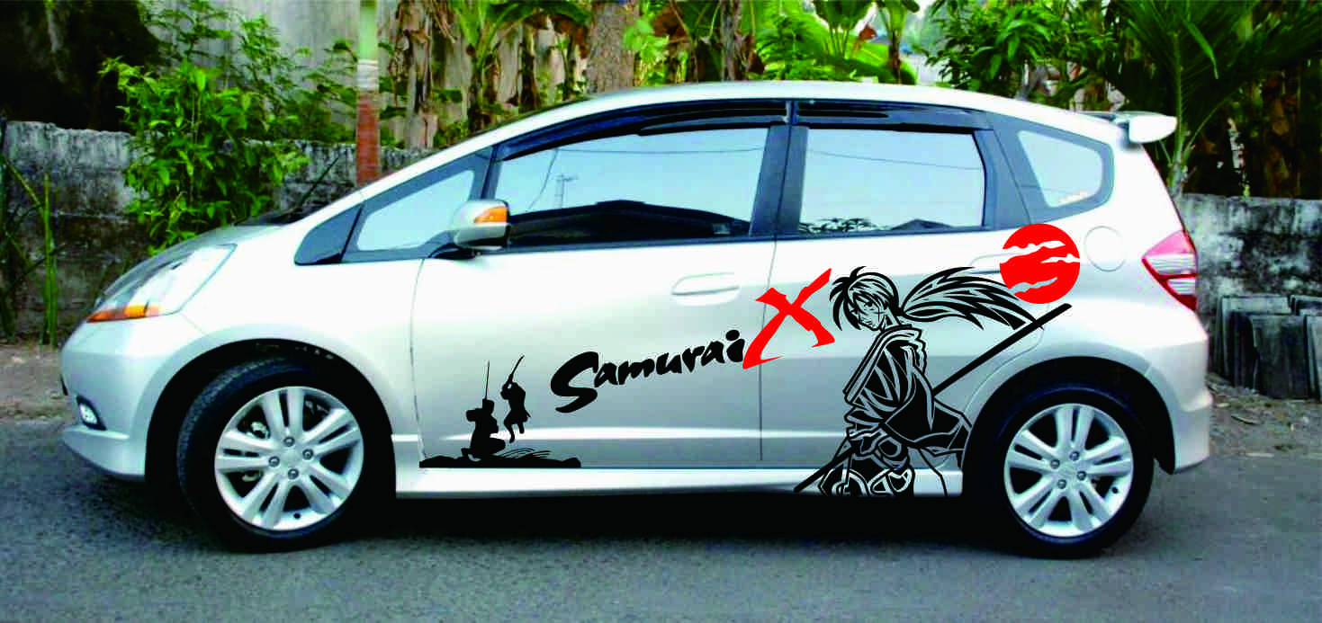 Cutting Sticker Jazz Motif Samurai X Custom Sticker