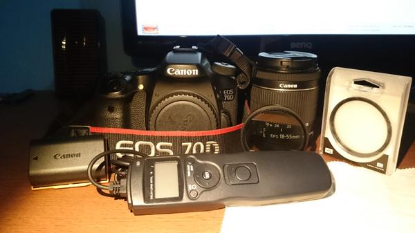 Canon Eos 70D Kit 18-55 IS