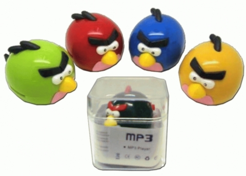 Radio MP3 Player Angry Bird + Kabel Charger + Earphone Hot List Murah