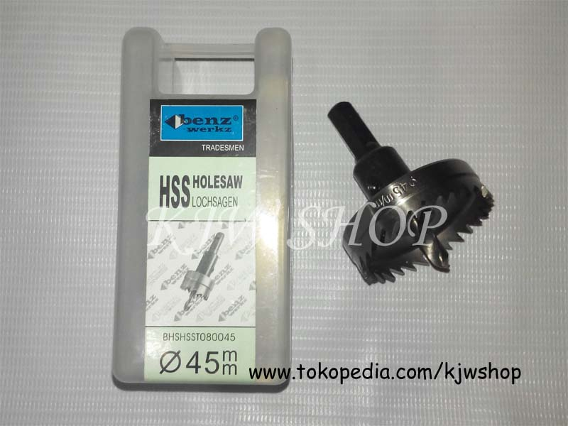 Holesaw / Hole Saw / Pelubang PVC Kayu Plat HSS Ukuran 45mm