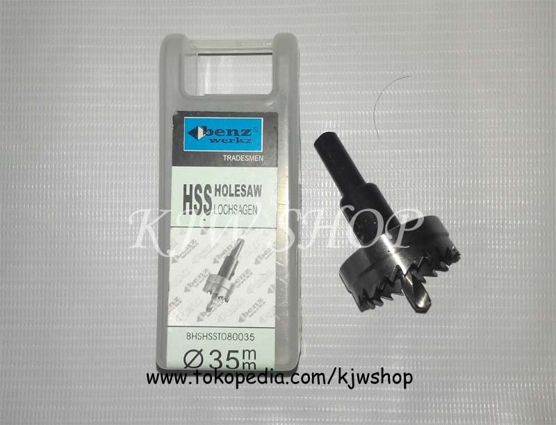 Holesaw / Hole Saw / Pelubang PVC Kayu Plat HSS Ukuran 35mm