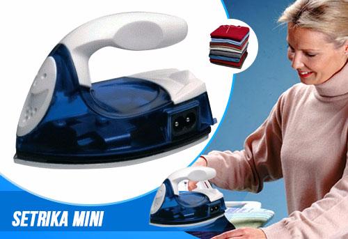 Setrika Listrik Mini Iron Travel Baju Strika Laundry Celana Kaos
