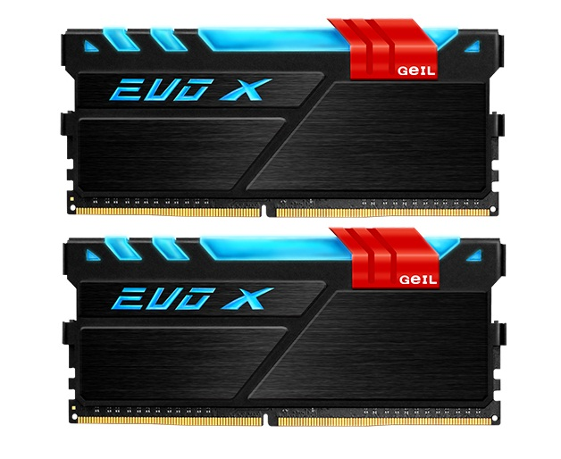 GEIL DDR4 EVO X RGB LED PC24000 Dual Channel 16GB (2x8GB)