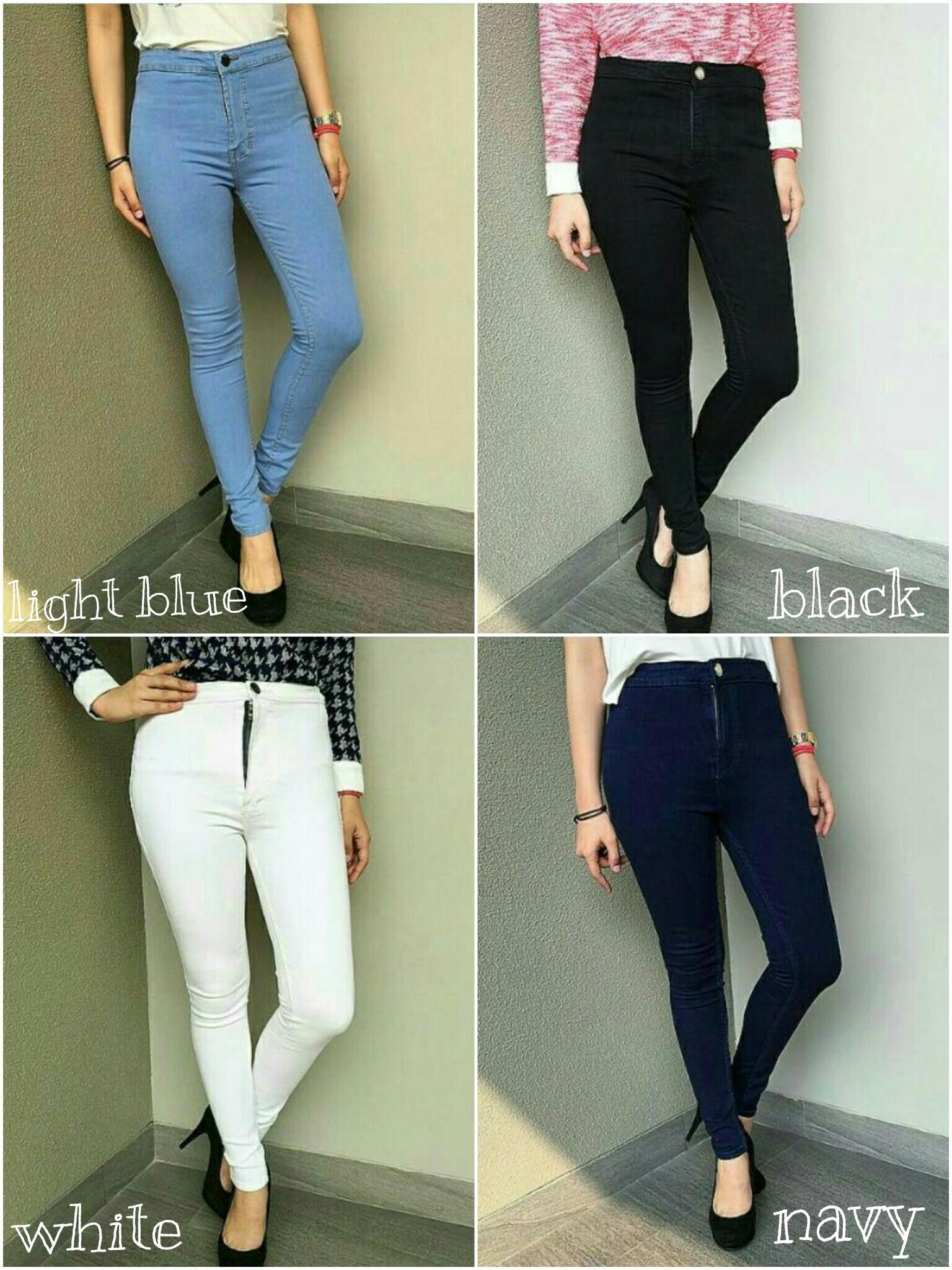 Fashion Celana Jeans Wanita Celana Jeans High Waist Pants