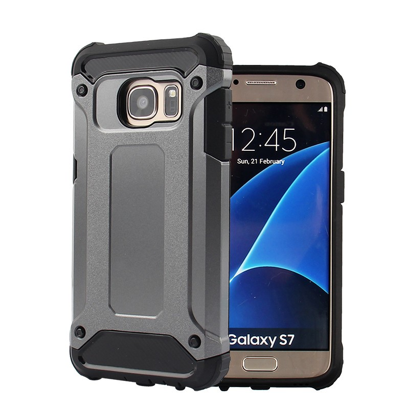 Samsung Galaxy J7 2016 Defender Armor Case - Soft Gel  Polycarbonate