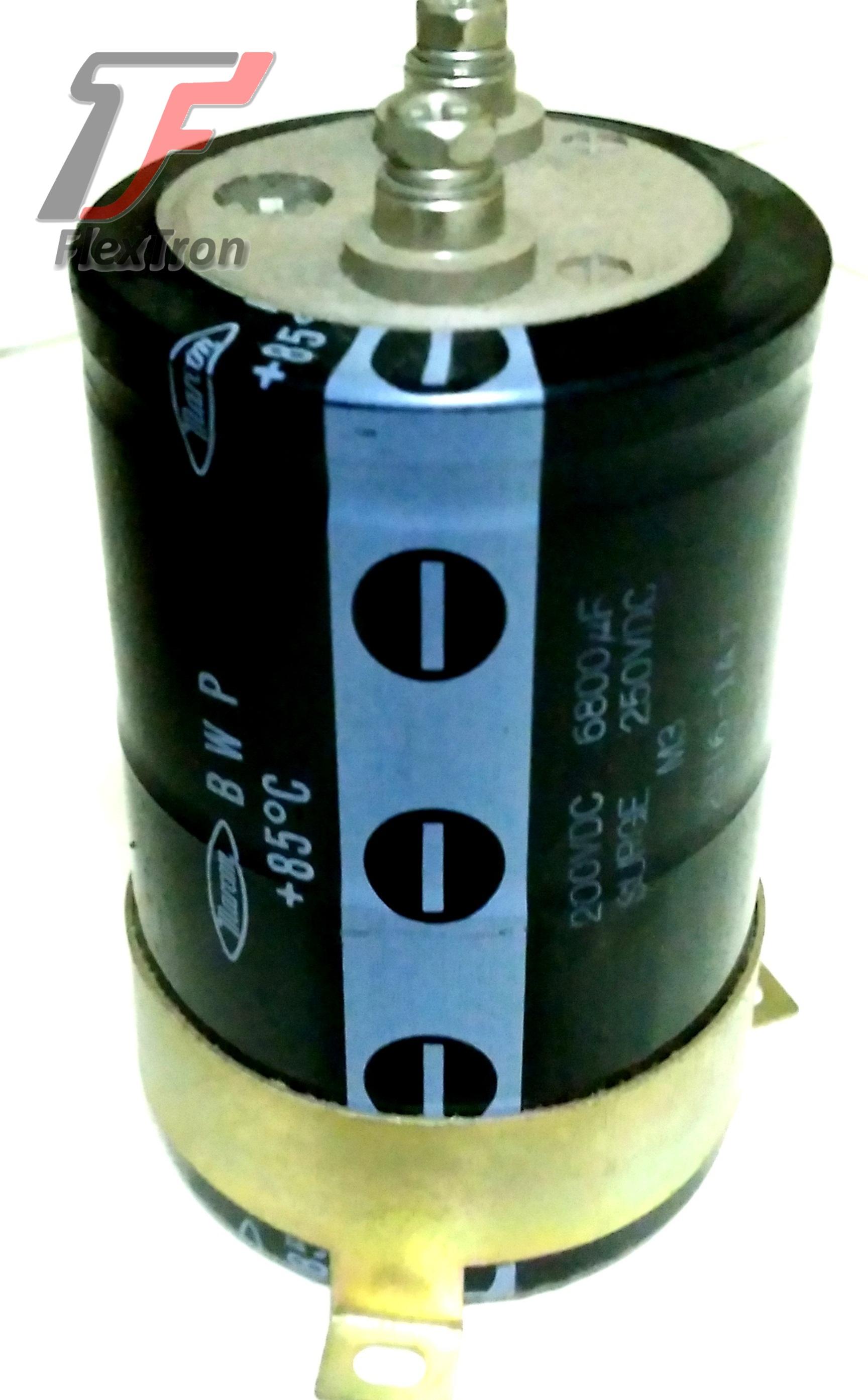 Capacitor / Kapasitor Elco 6800uF 200V Marcon BWP NOS
