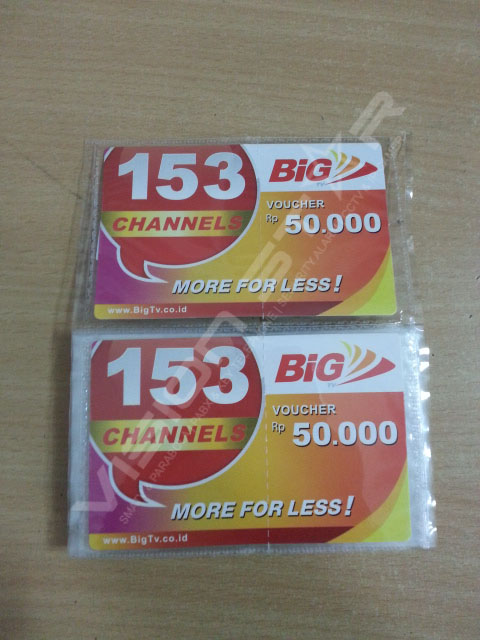 Voucher BIG TV Rp 50.000