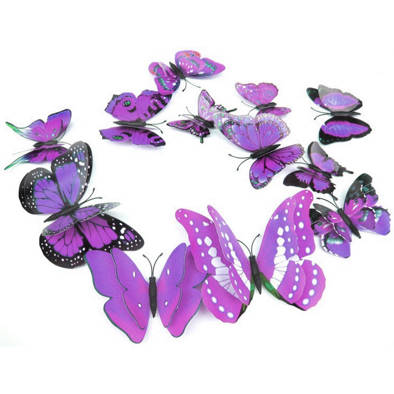 3d Wall Sticker Hiasan Dinding Kupu Isabel Stiker Hias Butterfly Motif Bagus Source Jual Magnet 12 Pcs Ungu Cyber Gadget Id