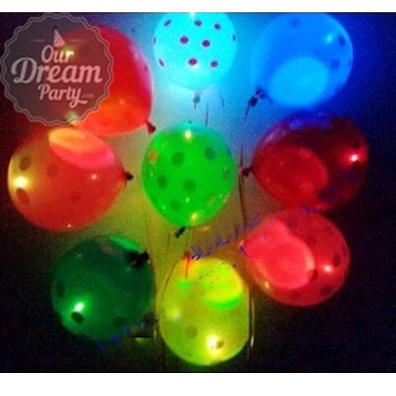 Balon Led Balon Latex Balon Ultah Polkadot/bintik