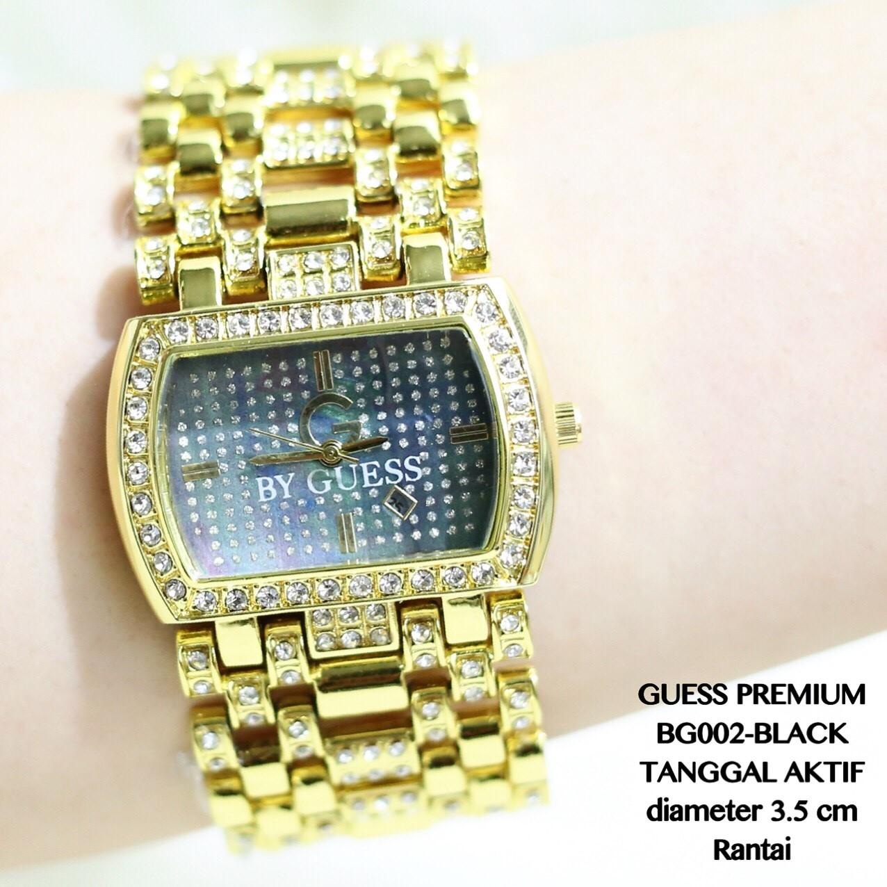 Jam tangan guess premium rantai gold spiral supplier grosir termurah