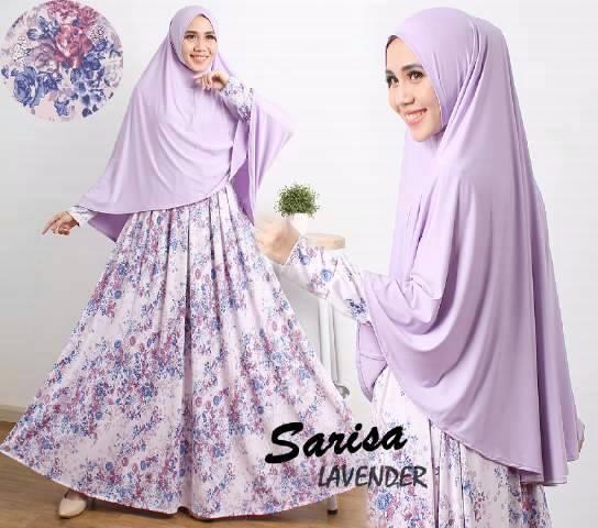 Gamis Syari Cantik Sarisa Lavender (Murah Modern Terbaru Modis)