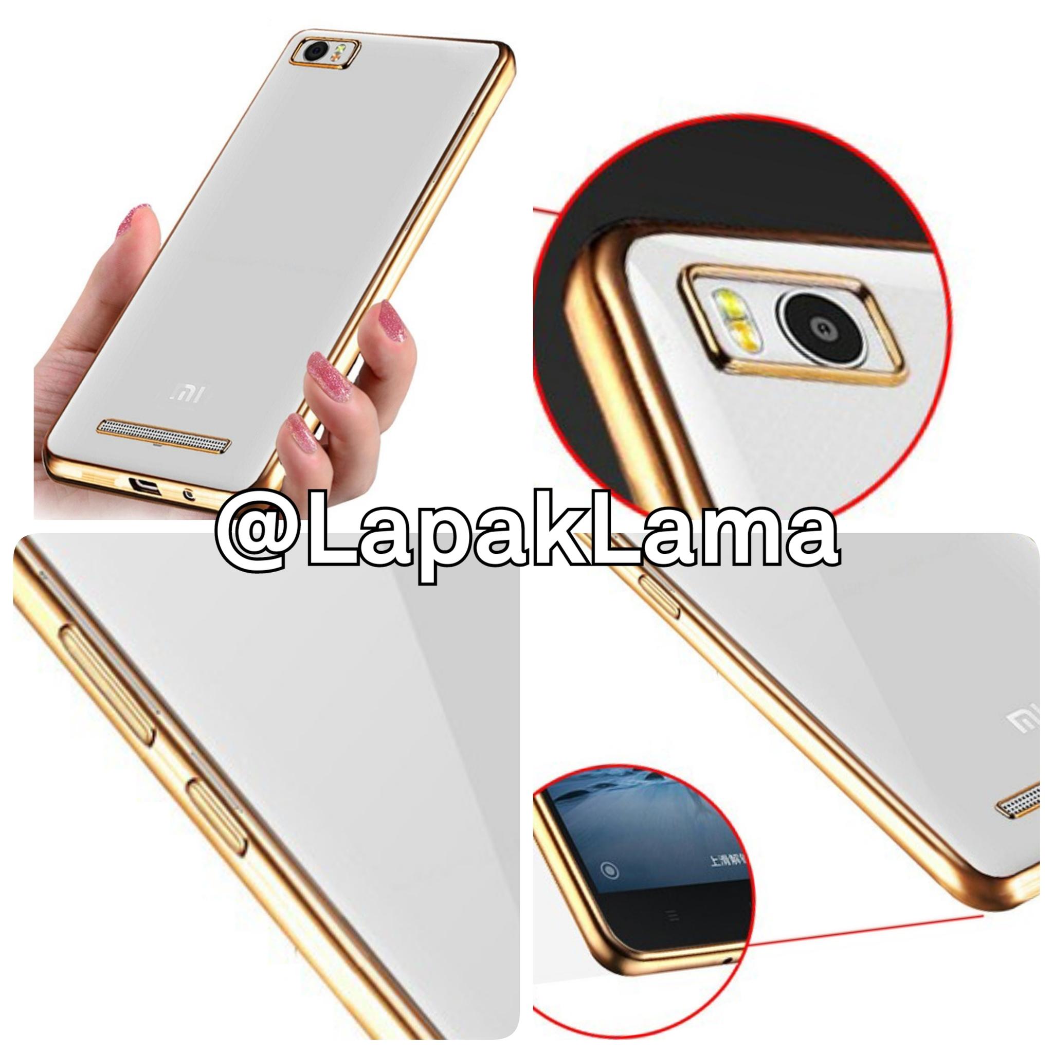 Softcase Xiaomi Mi4 List Chrome Gold Transparant Tempered Glass Oren Lenovo Mi5s Clear Jual Noblecase Electroplated Case Mi4i Mi 4i 4c Mi4c Scmi4i Lapak Kelin