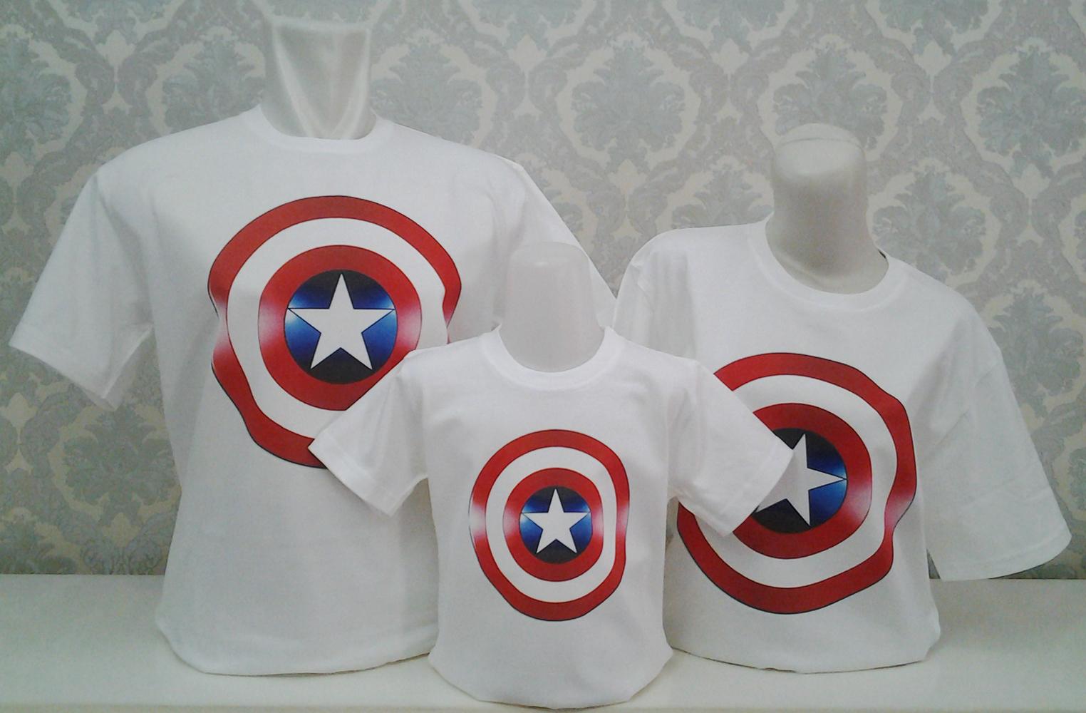 Jual Baju Couple Pasangan Kaos Keluarga Motif Captain America 098 Logo Kaoscouple Jakarta Tokopedia