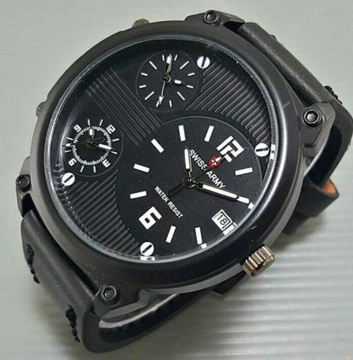 BEST SELLER!! Jam Tangan Pria Swiss Army Ultrasize Leather (5 warna)
