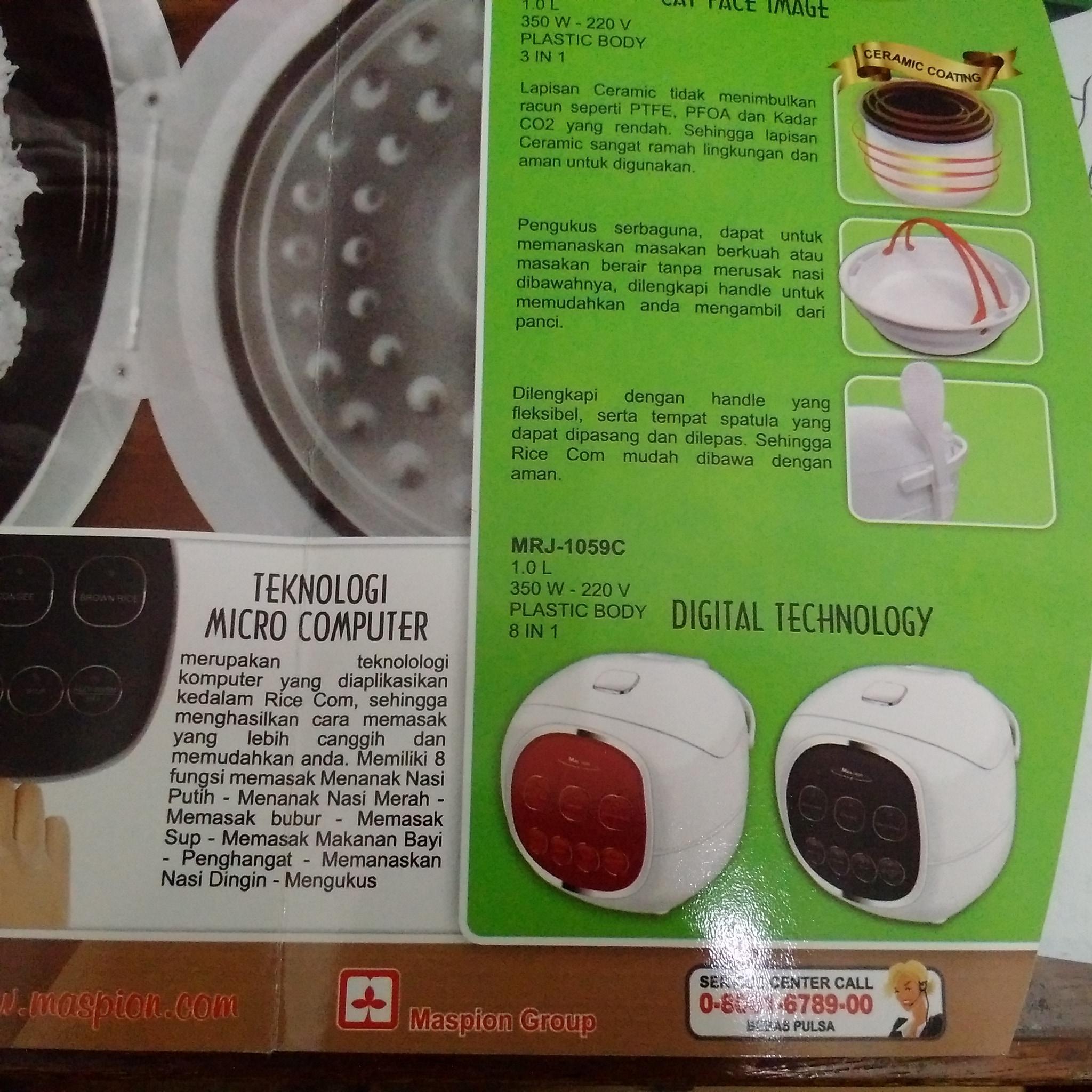 Sakura Motif Batik Cover Rice Cooker Daftar Harga Terbaru Cmos Magic Com 12l Crj10lj Jual Series Digital Technology Mrj 1059c Maspion Bakul Serba Ada
