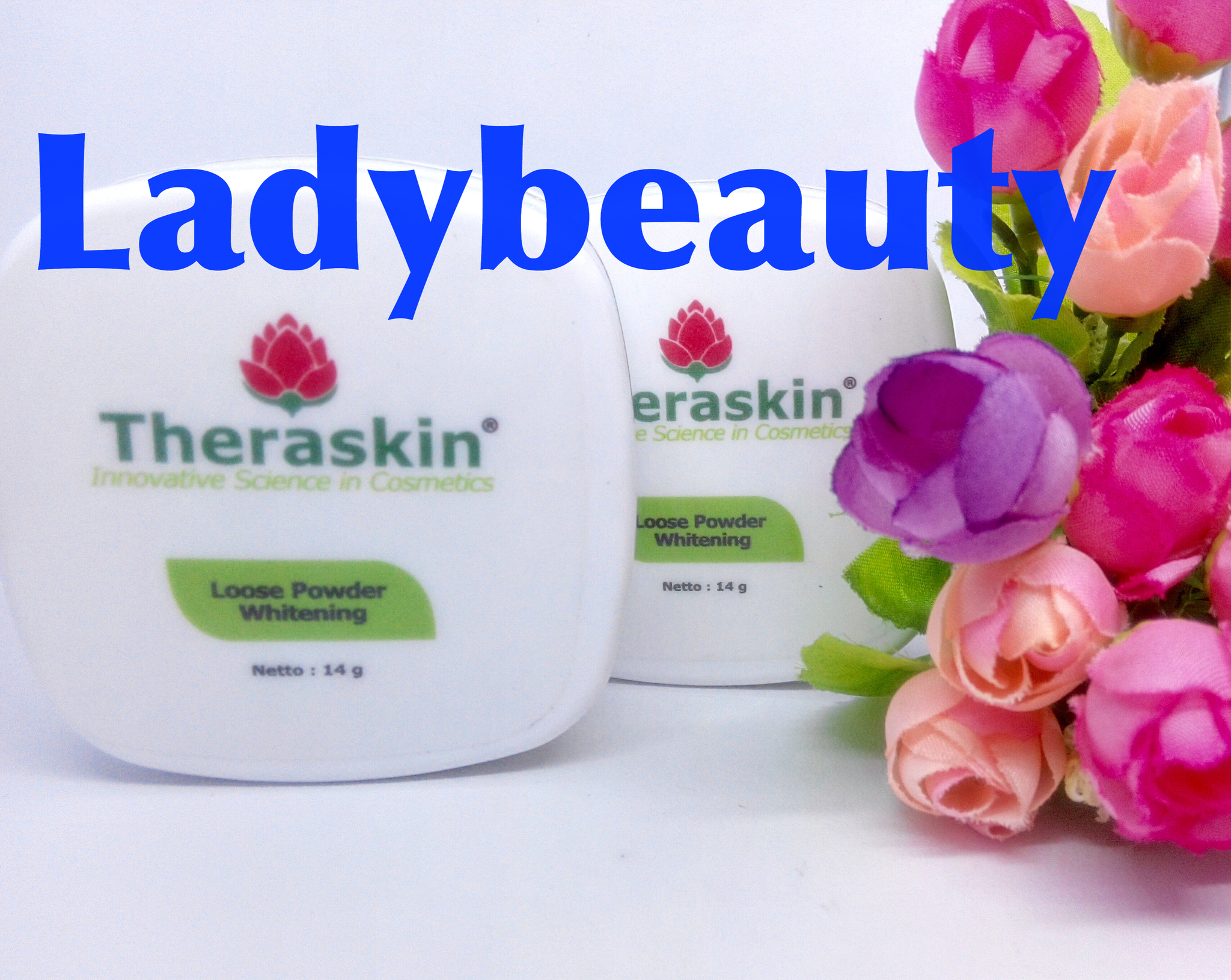 Jual Theraskin Loose Powder Whitening Bedak Tabur Plus Pemutih Ladybeauty Tokopedia