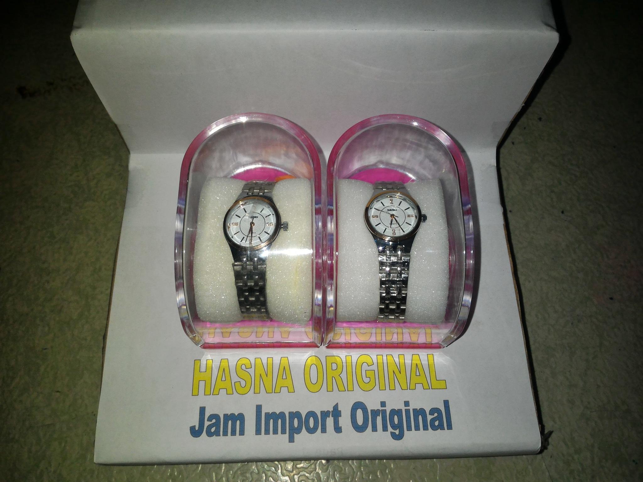 jam tangan wanita original model casio 1133 Silver gold SKMEI