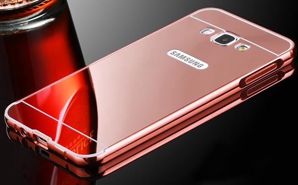 ... CASE ALUMUNIUM METAL CASING HP GOLD. Jual Backcase Mirror Slide For Samsung Galaxy J7 With Alumunium Bumper - helo aksesoris | Tokopedia