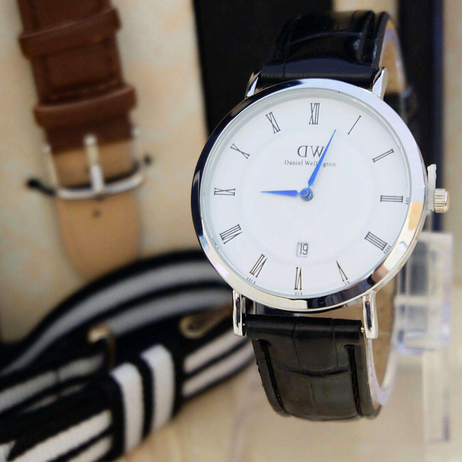 jam tangan dw daniel wellington paket canvas kulit romawi