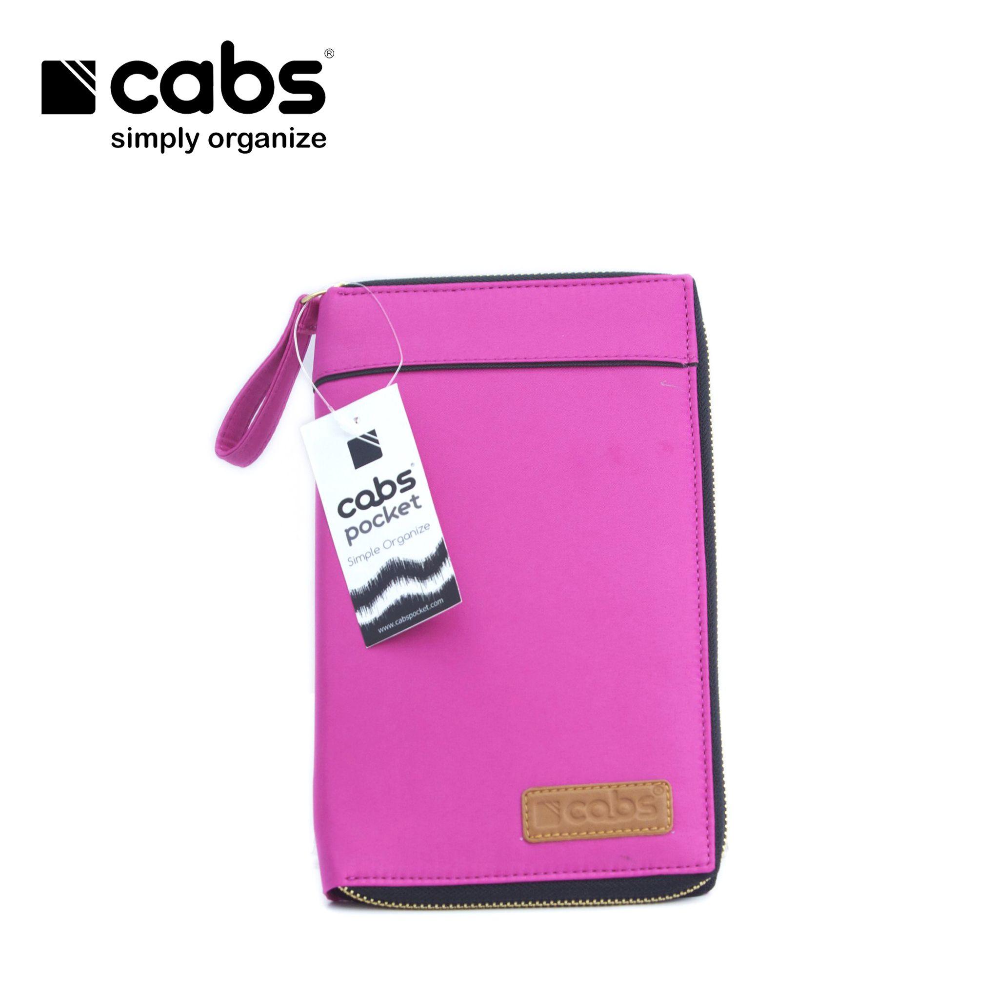 Cabs Pocket Andro (Dompet Serbaguna HPO Organizer untuk Pria & Wanita Dompet Kartu Lokal Wallet Branded) Pink