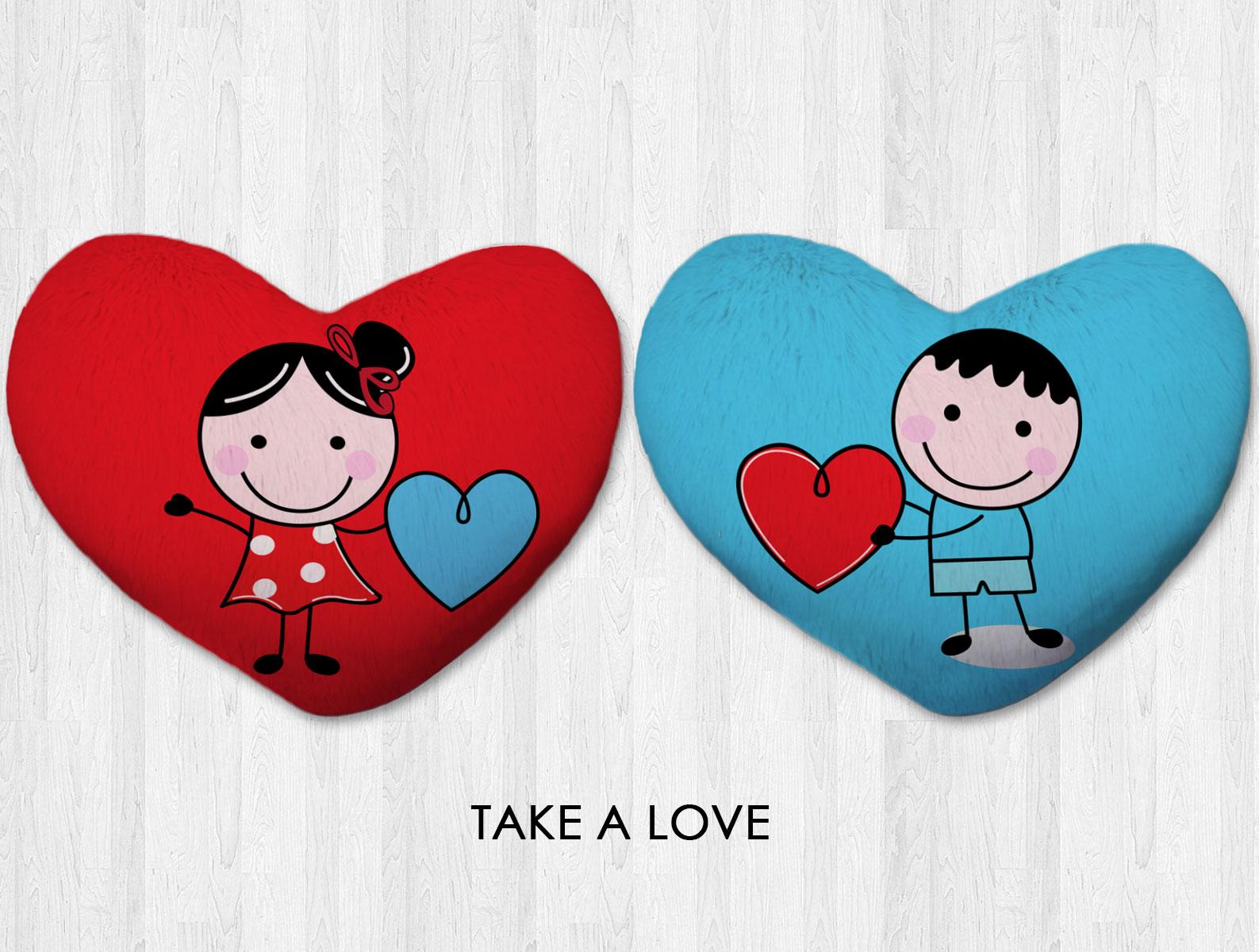 Bantal hati besar / kado valentine couple - Take a Love