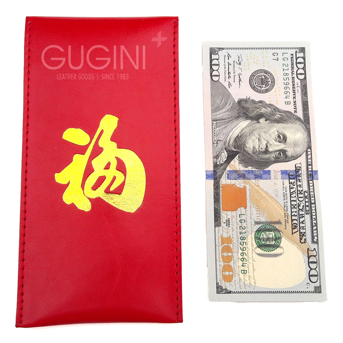 (RS) Luxury Angpao - Large Size Single Button by GUGINI