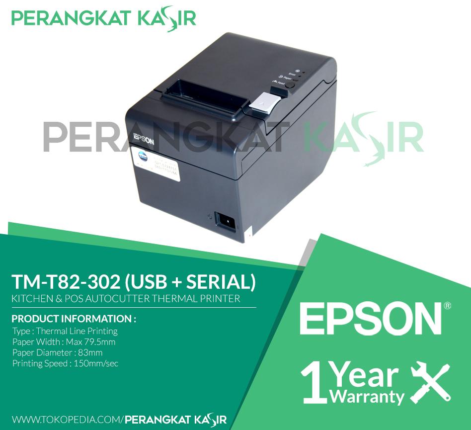 Jual Printer Kasir EPSON TM-T82 Thermal 80mm / 58mm ...