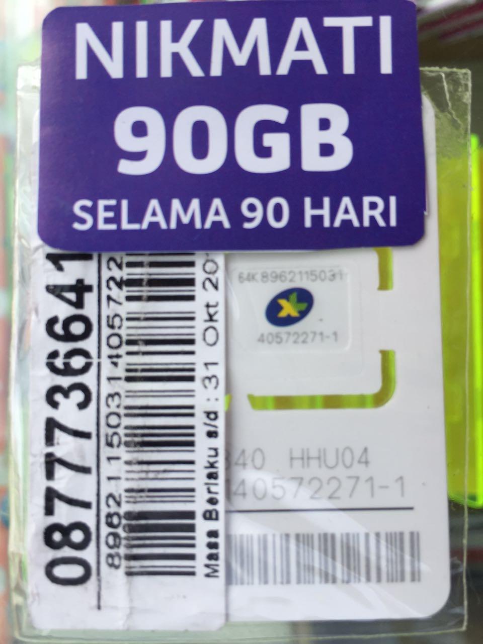 Jual Perdana Internet Xl Go Kuota 90gb 3 Bulan Kartu 90 Izi Gb Positif Tokopedia