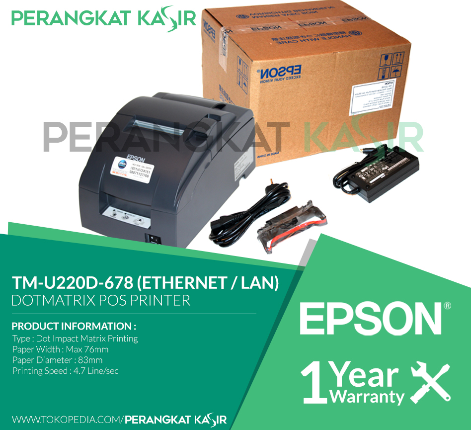 Jarum Print Head Epson Tmu 220 210 230 Per Spec Adaptor Ps 180 Ori Cabutan Baru Jual Printer Kasir Lan Tm U220d 678 Tmu220d