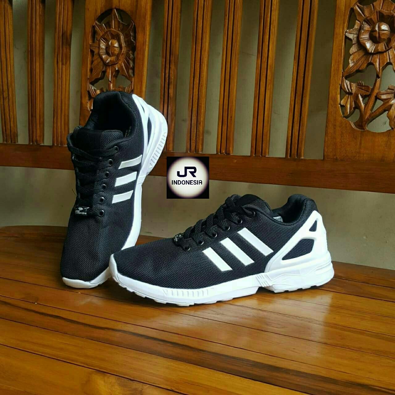 innovative design 4014a efc8d ... store italy sneakers sepatu adidas zx flux hitam list putih grade  original c6898 744e9 low price