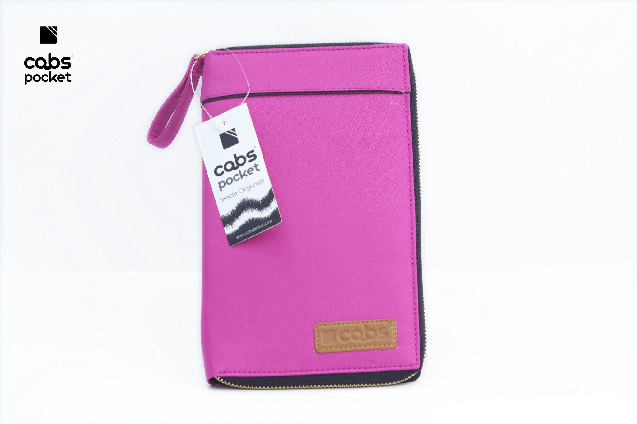 Cabs Pocket Slim (Dompet Serbaguna HPO Organizer untuk Pria & Wanita Dompet Kartu Lokal Wallet Branded) Pink