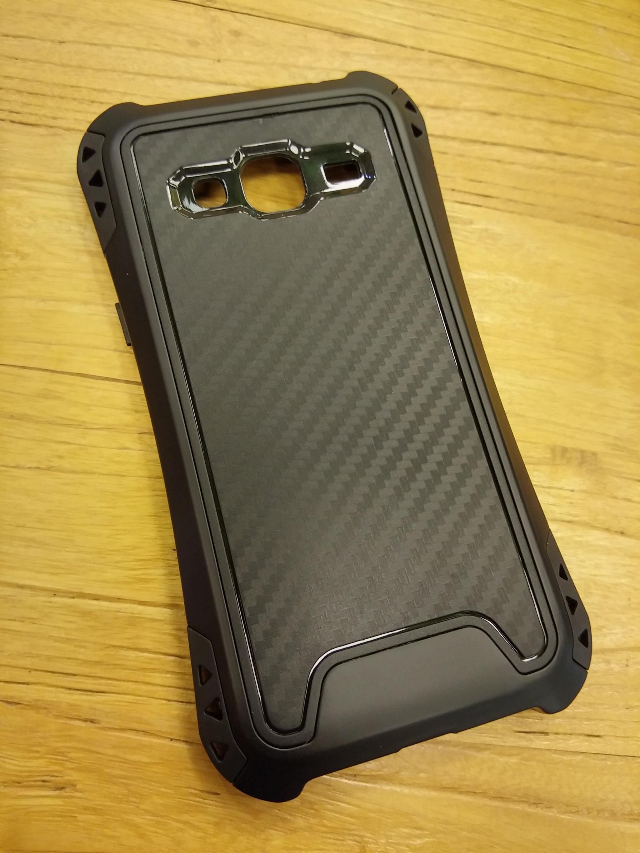 Samsung Galaxy J2 Prime Carbon Rugged Armor Case - Heavy Duty