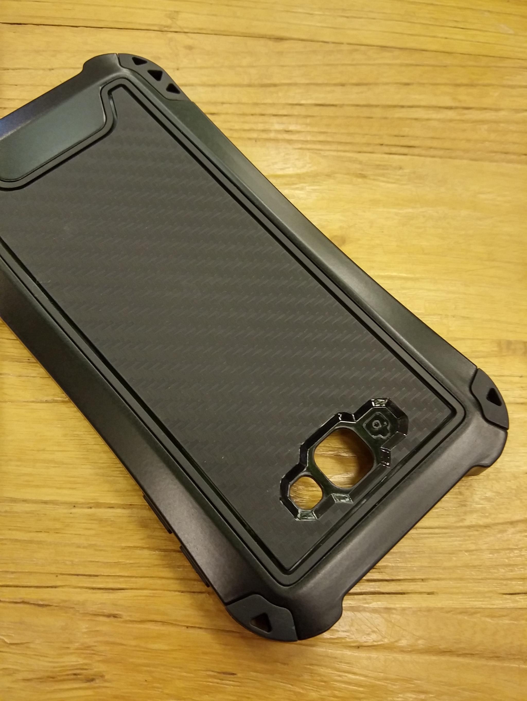 Samsung Galaxy J7 Prime Carbon Rugged Armor Case - Heavy Duty