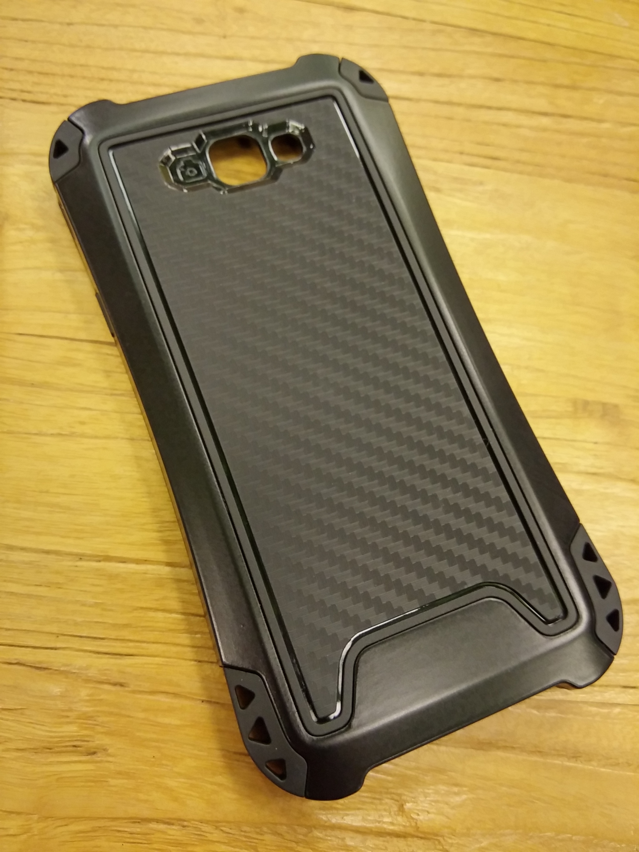 Samsung Galaxy J5 Prime Carbon Rugged Armor Case - Heavy Duty