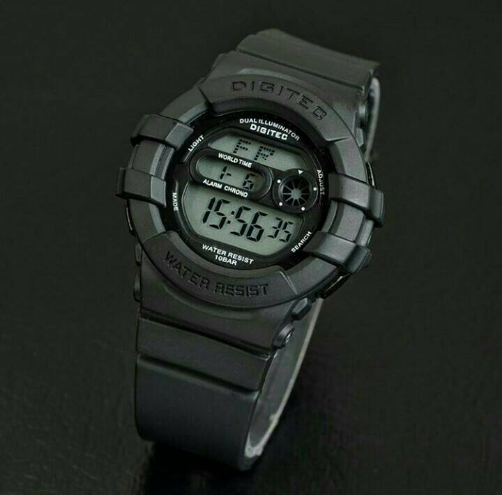 jam tangan digitec original dg 2051 full black