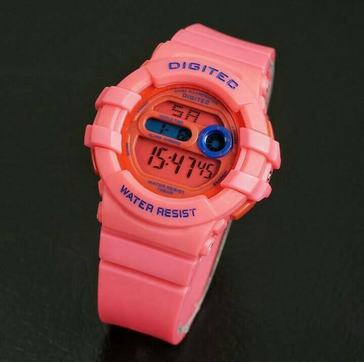 jam tangan digitec original dg 2051 pink