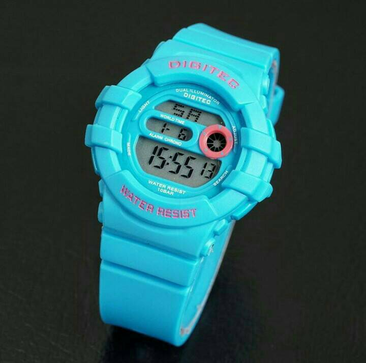 jam tangan digitec original dg 2051 blue soft