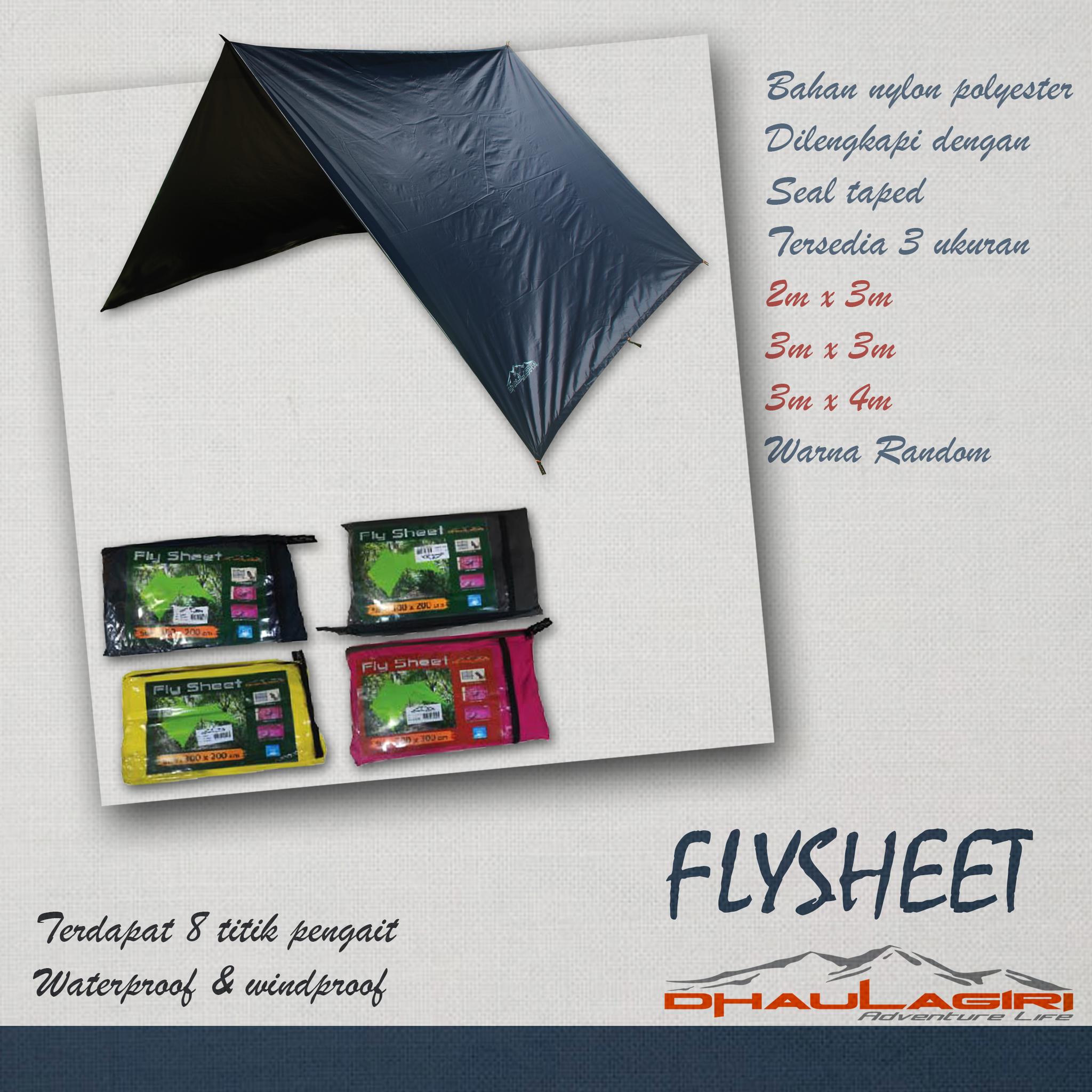 Jual Dh Flyseet 2x3 M Nirwana Outdoor Tokopedia Flysheet Tenda