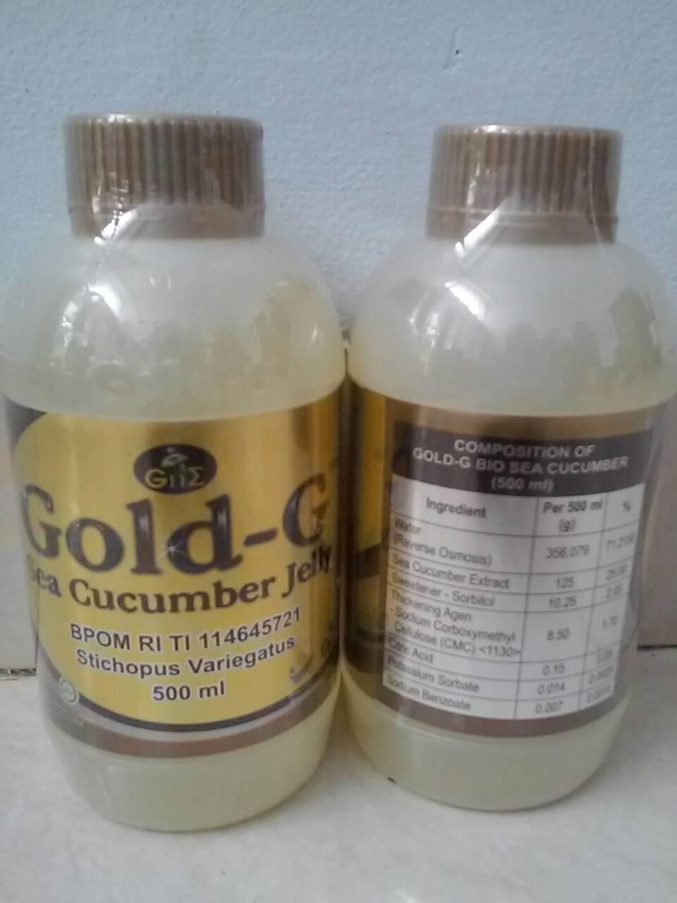 Jual Jelly Gamat / Gold G Sea Cucumber Jely Original 500 ml ( Herba Mura - Sinar Terang 212 | Tokopedia
