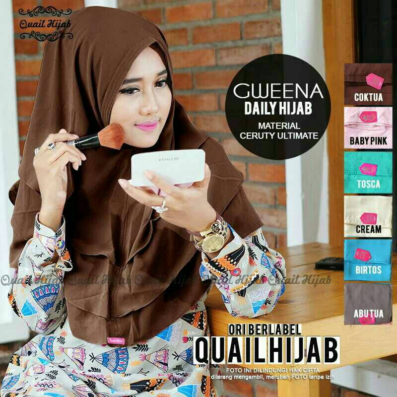 gweena daily hijab khimar jilbab cantik