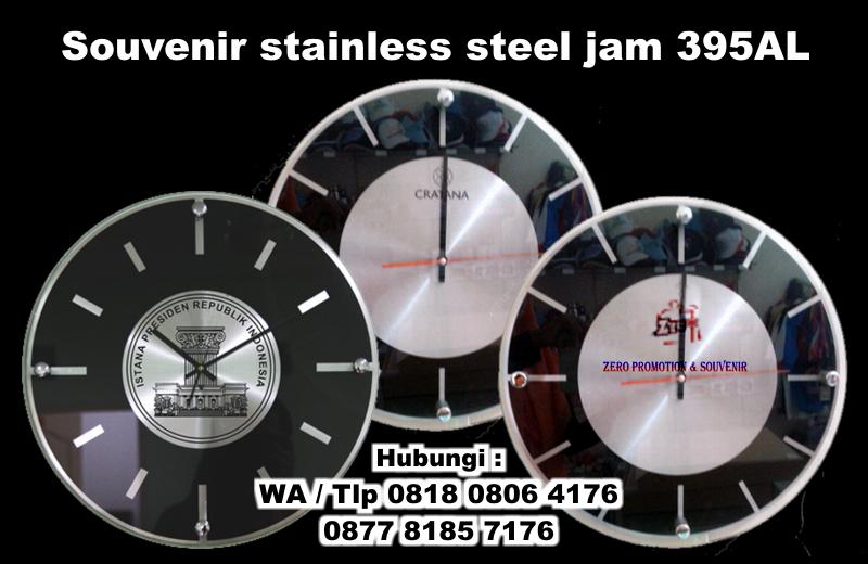 Jual Jual Souvenir stainless steel jam dinding Promosi kode 395AL - Zero  Promosi  0a7a94732f