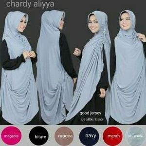 Khimar Cardi Aliyya/Jilbab/Hijab/Syari/Khimar/Syiria/Kerudung/Bergo