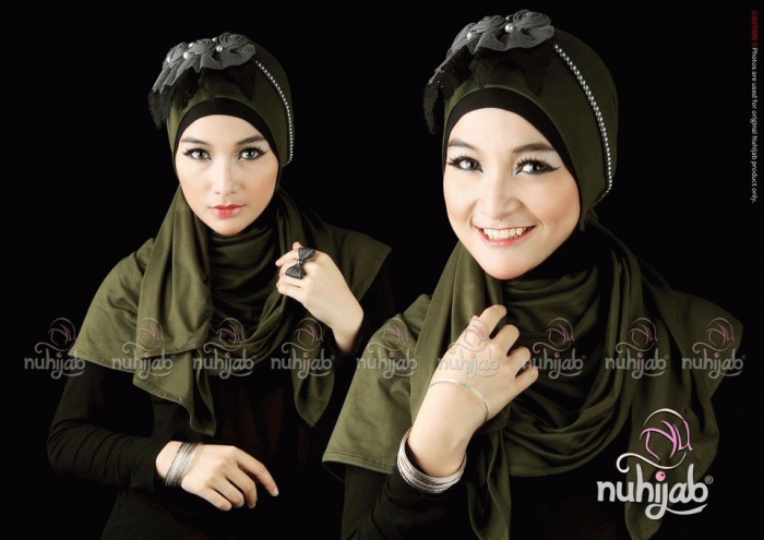 BEST SELLER Plain Shawl Instant Green Army BEST QUALITY