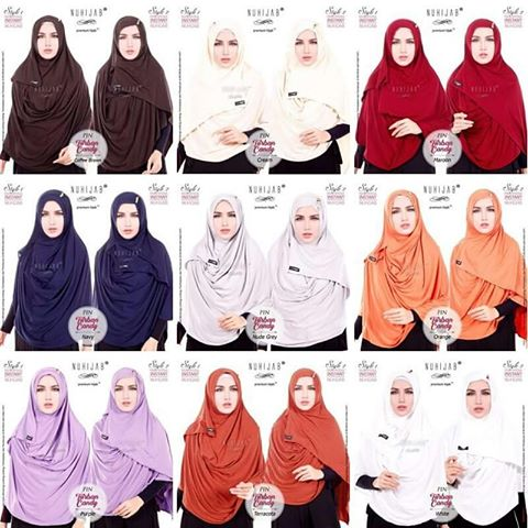BEST SELLER Pashmina Instant Nuhijab – Turban Candy BEST QUALITY