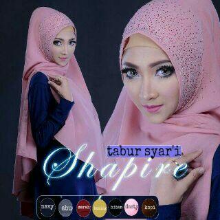 Jilbab Instan / Hijab Khimar Syar'i Saphire SS0198-2318 Diskon