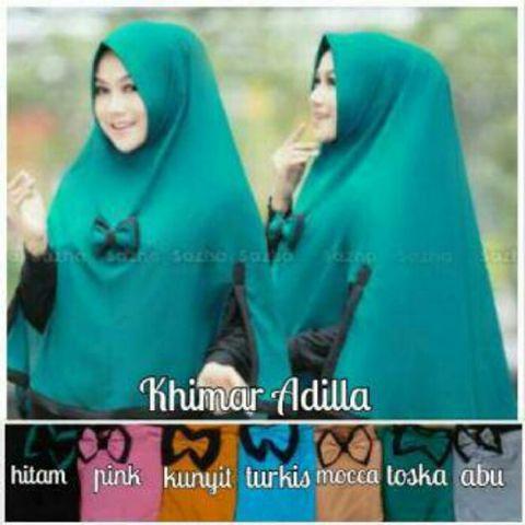 Hijab / Jilbab Instan Syari Khimar Adilla SS0202-2322 Murah