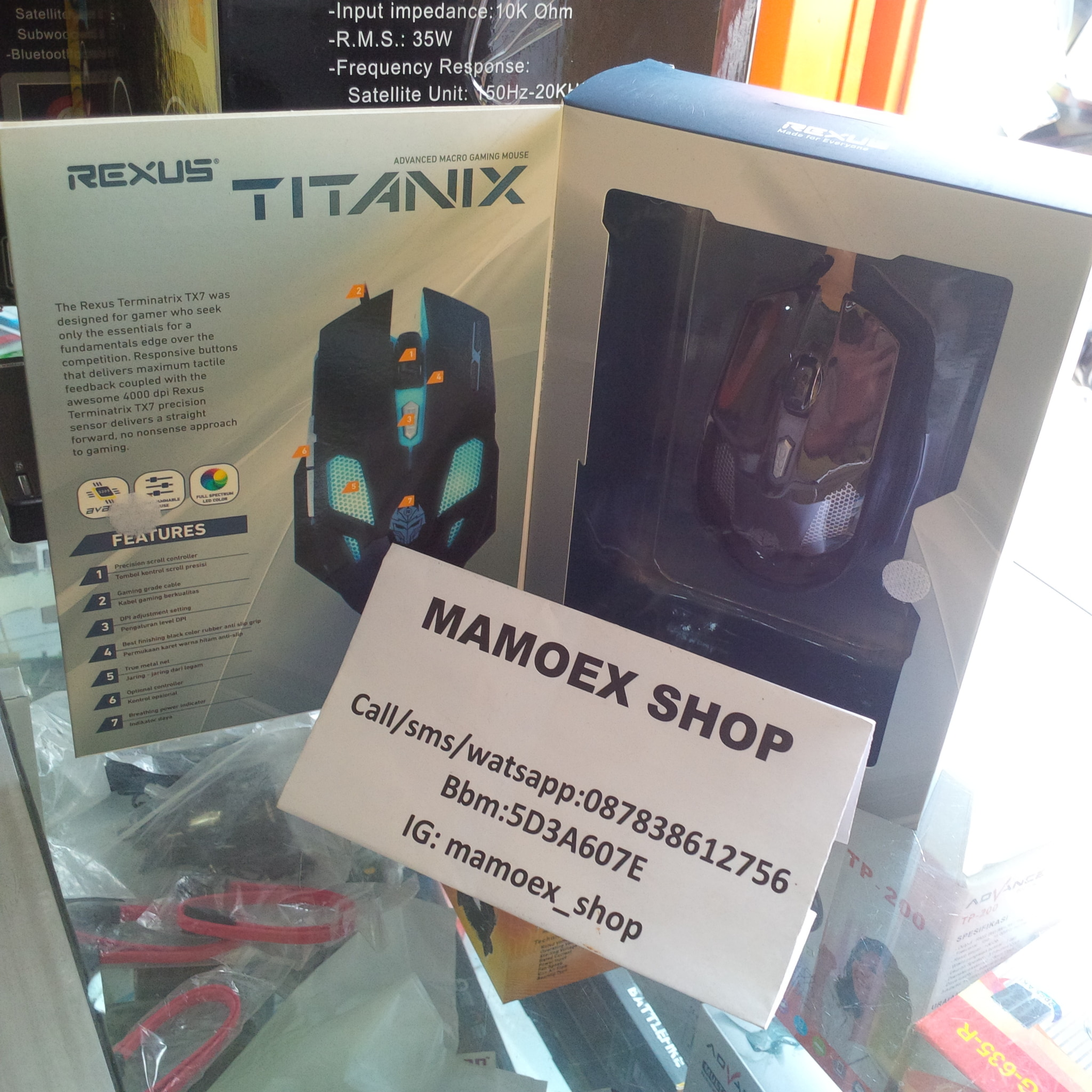 Jual Mouse Rexus Titanix Tx7 Mamoex Shop Tokopedia Gaming