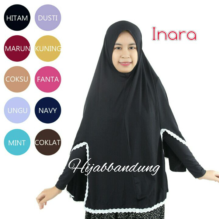 Khimar Inara Syar'i,Grosir Hijab,Hijab Syar'i