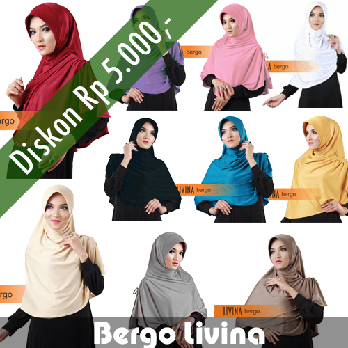 Hijab/Jilbab Bergo Livina TERMURAH