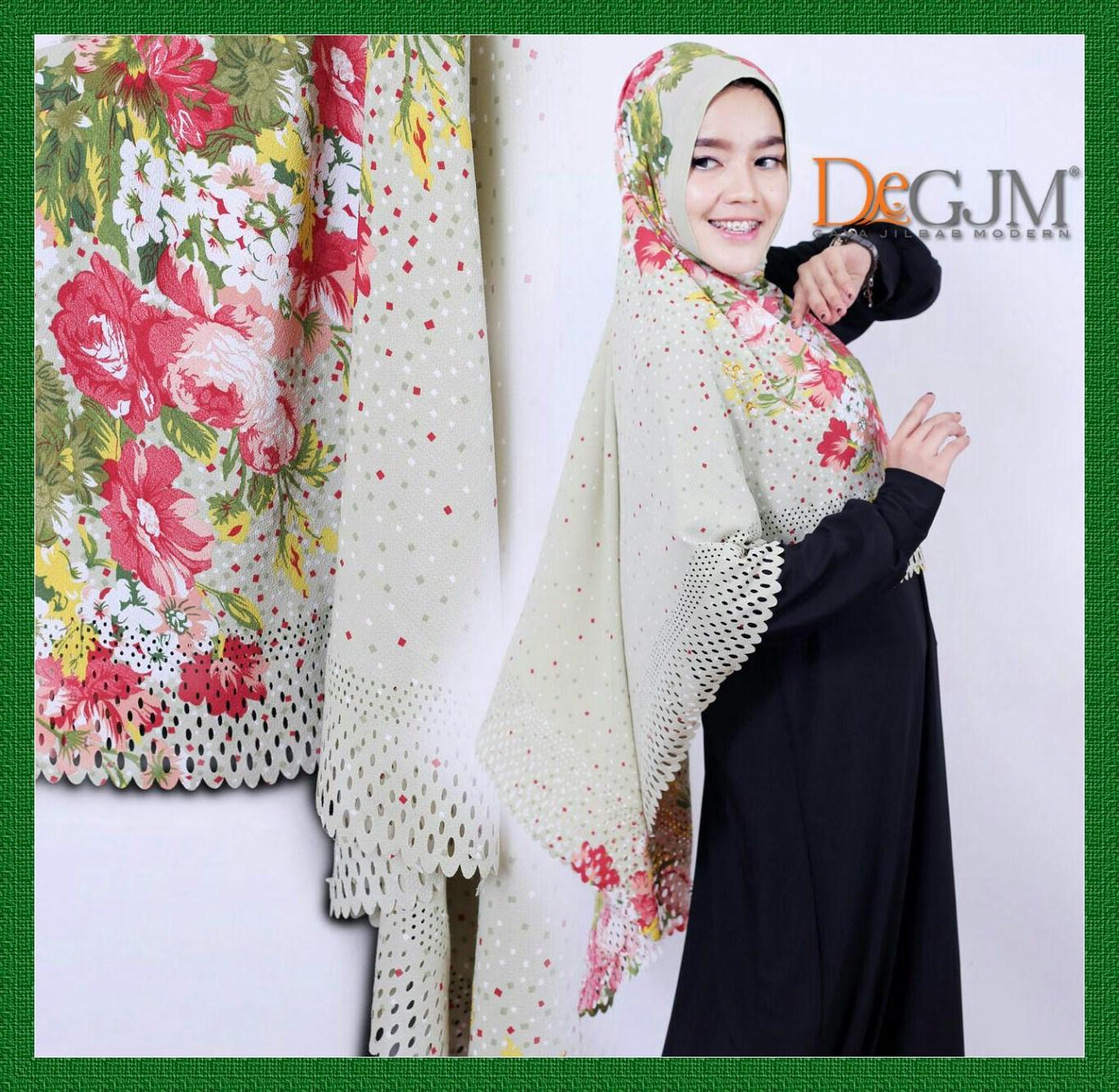 Jilbab Khimar Motif Modern Flowerita deGJM Hijab
